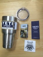 Wholesale 30 Oz Yeti Stainless Steel Mug Large Capacity Vacuum Ramble Tumbler Vehicle Beer Mug Insulation Double Wall Travel Cup