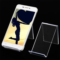 Wholesale Plastic Clear View Cell Phone Mob Jewelry Display Organizer MP4 MP3 Stand Holder
