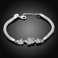 best flower delivery - Best Sale New Plum Flower Silver Plated Bracelet Bangle inchs Fashion Silver Wome Bracelets Fast Delivery and