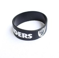 Wholesale Hot New Mix Classic Football Logo Multicolor Silicone Rubber Wristband Pretty Fashion Bracelets Choose Your Team NEW