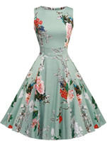 adult garden swings - Party Cocktail Dress Vintage s Floral Spring Garden s s s Big Swing Rockabilly Plus Size Vintage Dresses For Party