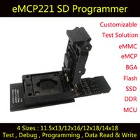Wholesale eMCP221 test socket with SD interface BGA221 nand flash programmer Clamshell structure socket for Tablet PC data recovery