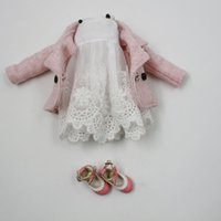 Wholesale Doll coat dress shoes for blythe Licca JB Doll