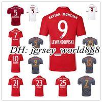bayern soccer jersey - Top Thai red home Bayern Munich Away gray Soccer jersey VIDAL COATA LEWANDOWSKI MULLER ROBBEN BOATENG ALABA RD white Football shirt