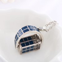 american slide phones - Doctor Who Doctor Who rotatable blue necklace jewelry pendant high quality phone booth