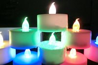 Wholesale hot sale Battery operated Flickery Flameless Plastic LED Tealight Candle