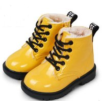 Wholesale 2016 fashion candy color winter children boots boys shoes for girls boots shoes kids leather sneakers child snow boots rain shoes