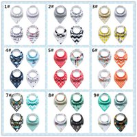 bib baby triangular scarf - New Fashion Cotton Plush Baby Bib Cartoon Print Triangular Towel Bandana Bibs Double Layers Baby Scarf by Buttons