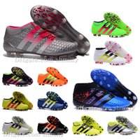 ankle pack - 2016 New Original mens Ankle Football Boots for men ACE Purecontrol FG AG Etch Pack Soccer Shoes Primeknit Soccer Cleats