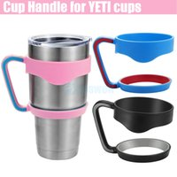 Wholesale Hot selling Cups Handle for Bilayer YETI Cups OZ Stainless Steel Insulation Mug Cup Cars Color Travel Vehicle Beer Rambler Tumblerful DHL