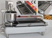 auto fryer - Professional Stainless Steel Auto Electric V V Donut Doughnut Fryer Machine Maker