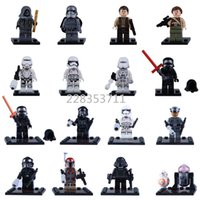 Wholesale Single Star Wars Minifigures The Force Awakens Kylo Ren TIE Pilot R2D2 Building Blocks Figures Bricks Toys Chilren Gift