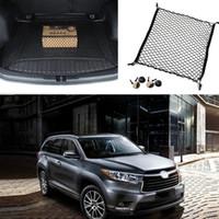 Wholesale 1Pcs For Toyota Highlander Rear Trunk Cargo Organizer Storage Net Luggage Organizer Safety Liners Decoration DIY