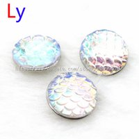 Wholesale Glitter color scale Noosa buttons Jewelry accessories DIY personality noosa button Snap Buttons noosa jewelry NR0025