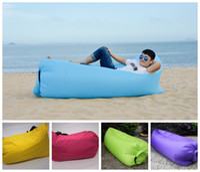 Cheap 2016 Fast Inflatable Lamzac Hangout Lounger Air Sleep Camping Sofa Beach Nylon Fabric Sleeping Bag Bed Lazy Chair ourdoor