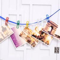aluminum paper clips - 10PCs Colorful Metal Clothe Photo Paper Pin Clips Clothespin DIY Craft Hanging Decor Random Color order lt no track
