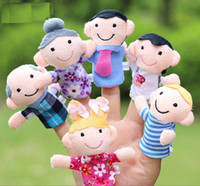 Wholesale 6pcs Family Members Hand Finger Puppets Toys Soft Plush Toy Gifts For Children