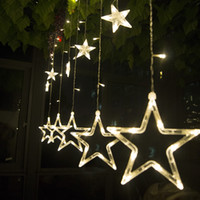 Wholesale 2M LED Curtain Light Decorative WeddingStar String Lighting Fairy Garlands Home Outdoor Holiday Waterproof Christmas Lights