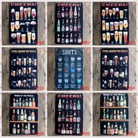 Wholesale Vintage Metal Painting quot Beer Wine Cocktails quot Tin Signs Wall Painting Art Wall Stickers Crafts Cafe Bar Bar KTV Home Decoration x30 CM