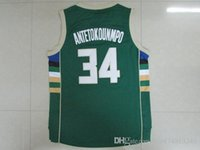 Wholesale antetokounmpo shirt The New Season shirt basketball shirt Sport shirts Embroidery Logo Green Top Quality