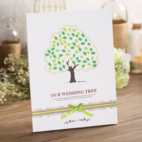 Wholesale Wedding european style wedding gift book fingerprint love tree creative wedding guests check in signage book