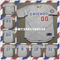 Wholesale Retro RYNE SANDBERG SHAWON DUNSTON Baseball jersey MARK GRACE GREG MADDUX ANDRE DAWSON jersey Throwback Mens Stitched jerseys
