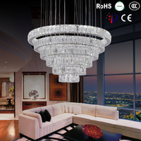 Wholesale DIY LED Pendant Light K9 Crystal Hanging Lamps Fixtures For Indoor Home with AC100 to V CE FCC ROHS VALLKIN Crystal Pendant Lights Moder