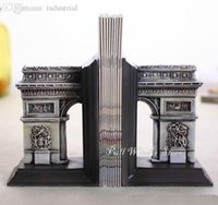 architecture books - Creative architecture bookends Personalized old house bookend Office decoration Vintage Resin court building book shelf stall