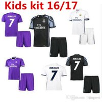 Wholesale Hot New Real Madrid Jersey children live soccer jerseys Ronaldos children socks kids kit Kids in September