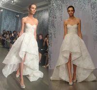 sexy mini wedding dress - Gorgeous Lace Sweetheart Wedding Dresses Boning Exposed High Low Bridal Gowns White Ivory Wedding Dresses Custom Made Vestidos