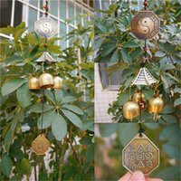 Wholesale 2015 New Antique Bronze Gossip Feng shui Windchime Outdoor Wind Chimes