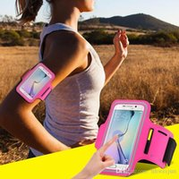 arm wallet - Women Men Waterproof Running Sport Arm Band Leather Case For Samsung Galaxy S7 S6 S5 S4 A5 For LG For HTC M8 Bag