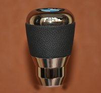 aluminium shift knobs - Leather Aluminium Alloy Gear Shift Knob gear knob For M3 M5 Z3 Z5 i i manual Transmission MT
