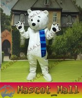 Wholesale MALL266 Professional Customized Polar White Bear Mascot Cartoon Costume Customs Fancy Dress Anime Mascotte Outfit Carnival Animal Costumes