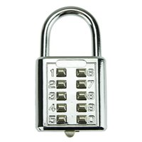 Wholesale Not Easy to Crack Solid Digit Dial Password Lock Combination Padlock Coded Locks for Locker