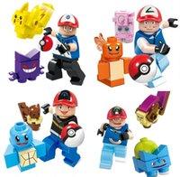 Wholesale 480pcs Minifigures Pikachu Squirtle Charmander Minifigures Children Bricks Building Blocks Collect Toys
