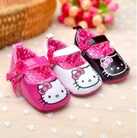 baby walker price - Hello Kitty Baby Girl Princess first walker Shoes Bowknot leather Cute Footwear KT Toddlers Soft Sole First Walkers prewalker factory price