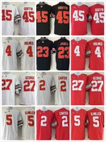 Wholesale College football jersey Ohio State Buckeyes Eddie George Santonio Holmes b miller Cris Carter Archie Griffin James shirt
