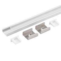 Wholesale 20pcs m a m per piece Anodized diffuse clear cover slim aluminum profile led strip light for led strip light