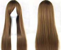 Wholesale Halloween cosplay role playing color long straight hair wigs anime wigs the new cm