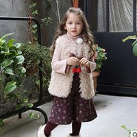 Wholesale 2016 New Baby Girls waistcoat Fashion Fleece Butterfly Children Vest floral lining thicken Kids waistcoat girls princess Tops