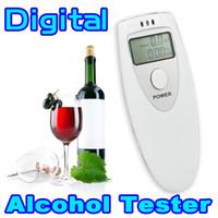 Wholesale Pocket Police LCD Digital Breathalyzer Tester Portable Breath Alcohol Analyzer Meter Alcohol Detection