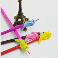 Wholesale New Silicon Best Gift Dolphin Fish Style Writing Posture Correction Children Pencil Students Hold a Pen H1235