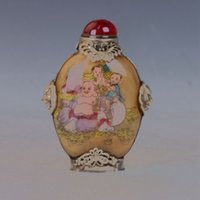 antique armor - Chinese Glass Internal Hand painted Armor Silver Buddha Children Snuff Bottle