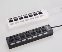 Wholesale Cheap Portable Universal Black USB Multi Port Socket Ports USB Hub Station Office Gift DHL