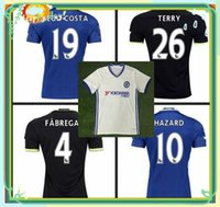 Wholesale DHL TOP Thai Quality Soccer Jerseys Home Blue White black Third TERRY Willian HAZARD Pedro OSCAR DIEGO COSTA Football Shirts