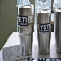 Wholesale Vacuum Insulated Stainless Steel Yeti oz Cups Cooler YETI Rambler Tumbler Travel Vehicle Beer Mug Bilayer