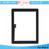 apple ipad install - Replacement For iPad Touch Screen Digitizer Assembly with Home Button M Adhesive Installed Black White AAA Quality Test Before Shipping