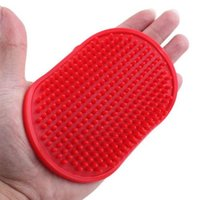 Wholesale Oval Cat Dog Pet Cleaning Massage Grooming Glove Bath Brush Comb With Fixed Band R593