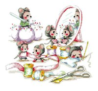 best sewing kit - 14 New Top Grade Best Selling Needlecrafts Counted Cross Stitch Kits Sew Busy Mouse Animal Cartoon Embroidery Needlework Craft order lt no t